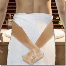 bath towel with sexy legs