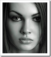 beautiful face- blank canvas