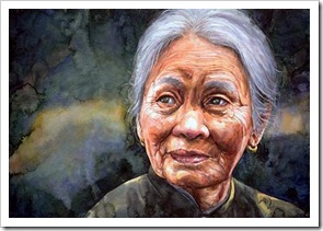 Chinese grandma painting