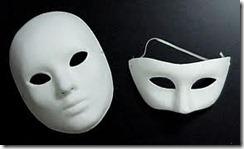 masks-plain paper mache