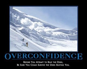 overconfidence-before you attempt to beat the odds