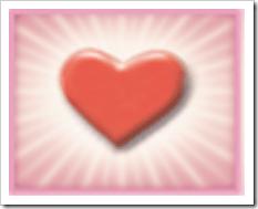 radiating love heart