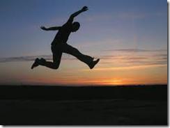 single-flying high-leap of faith