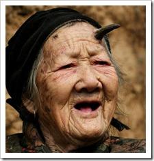 Zhang Ruifang - chinese grandma with horn