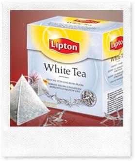 Lipton white tea- transparent pyramid tea bag