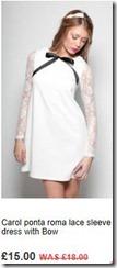 Carol ponta roma lace sleeve dress with bow