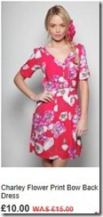 Charley flower print back dress