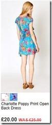 Charlotte poppy print open back dress