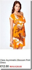 Clare asymmetric blossom print dress