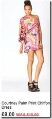 Courtney palm print chiffon dress