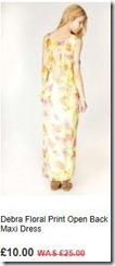 Debra floral print open back maxi dress