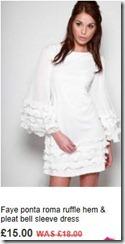 Faye ponta roma ruffle hem and pleat bell sleeve dress