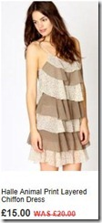 Halle animal print layered chiffon dress