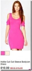 Hollie cut out sleeve bodycon dress