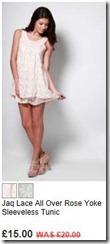 Jaq lace all over rose yoke sleeveless tunic