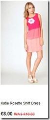 Katie rosette shift dress