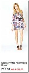 Keeley printed asymmetric dress