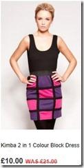 Kimba 2 in 1 colour block dress