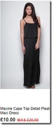 Maxine cape top detail pleat maxi dress