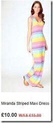 Miranda striped maxi dress