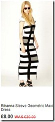 Rihanna sleeve geometric maxi dress