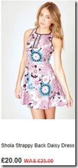 Shola strappy back daisy dress