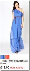 Tracey ruffle shoulder maxi dress