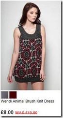 Wendi animal brush knit dress